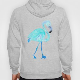 Aqua Watercolor Flamingo Hoody
