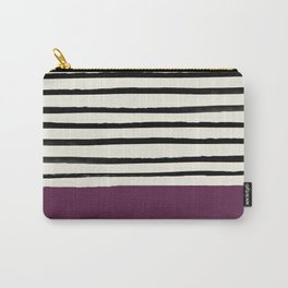 Plum x Stripes Carry-All Pouch