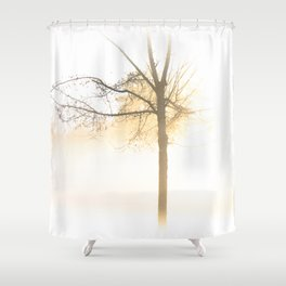 The White Woods Shower Curtain