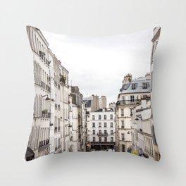 Montmartre View of Paris  Throw Pillow