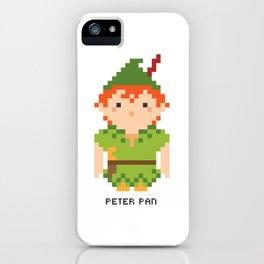 Peter Pan Pixel Character iPhone Case