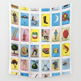 Lotería Cards Wall Tapestry
