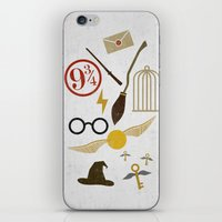 potter iPhone & iPod Skins featuring Minimalist Potter by Luis Urrutia