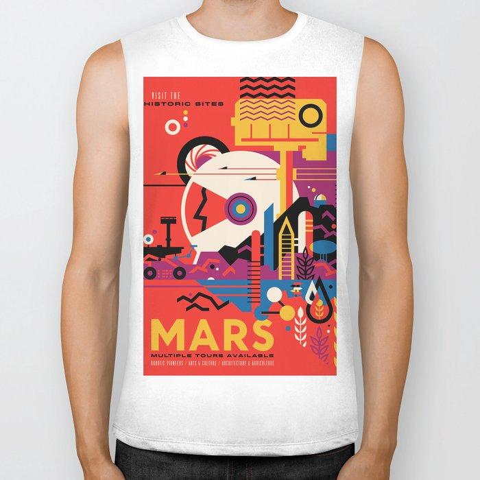 NASA Retro Space Travel Poster #9 Mars Biker Tank