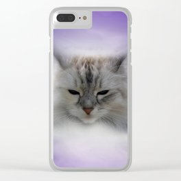 just a little cat Clear iPhone Case