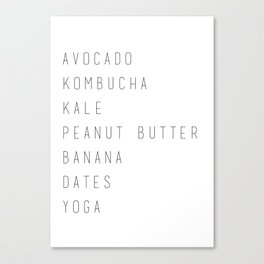 Just vegan things Canvas Print
