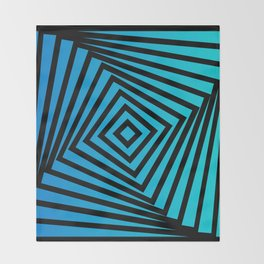 Squares twirling from the Center. Optical Illusion of Perspective bu Squares twirling Throw Blanket