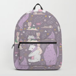 Christmas Seals, Polar bears, Rabbits, and Dogs Backpack