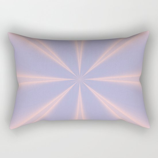 Fractal Pinch in Rose Quartz and Serenity Rectangular Pillow