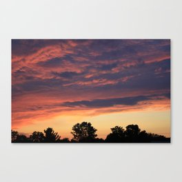 Sunset over Liverpool, NY Canvas Print