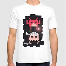 Daredevil and Elektra space invaders White Mens Fitted Tee MEDIUM