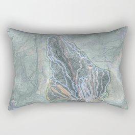 Gunstock Mountain Resort Trail Map Rectangular Pillow