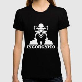 Incorgnito graphic Funny Vintage Corgi Lover Dog Pun Gift T-shirt