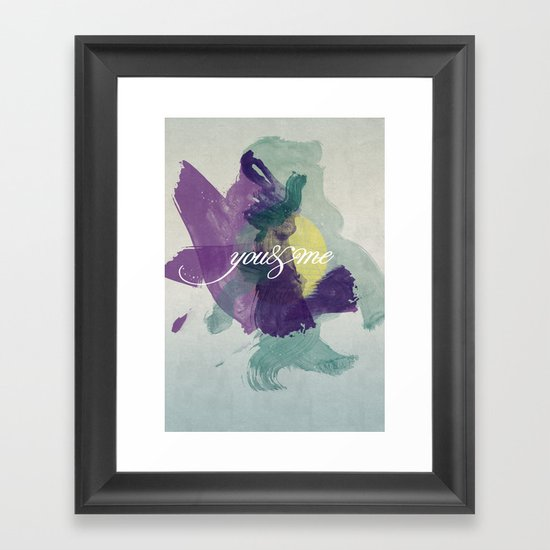 you&me Framed Art Print