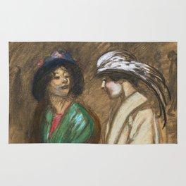 """Théophile Steinlen """"Sortie du theatre"""" Rug"""