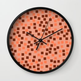Abstract colorful mosaic pattern V Wall Clock
