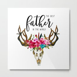 Best father #3 in the world | Father's day Metal Print