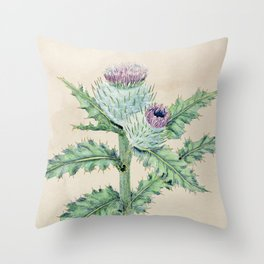 Downy thistle Throw Pillow