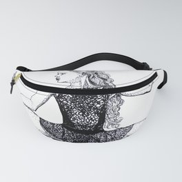 Crouching Dancer ballet pointe shoes Fanny Pack