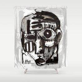 Reflection - b&w Shower Curtain