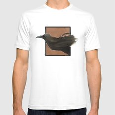 The Raven  White Mens Fitted Tee MEDIUM