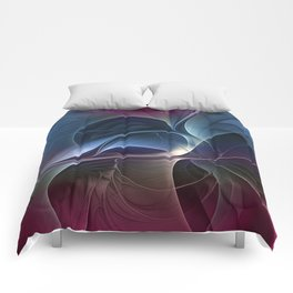 Fractal Mysterious, Colorful Abstract Art Comforters