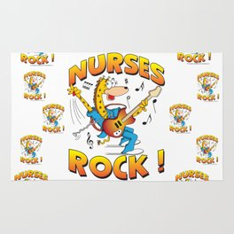 Nurses Rock Pattern Rug