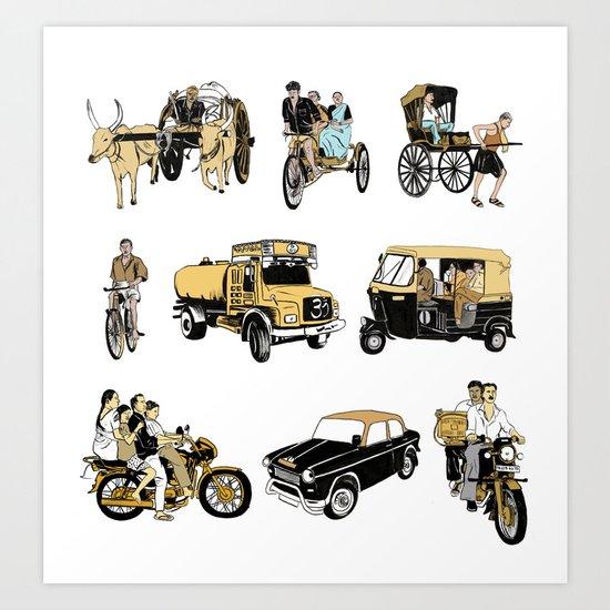 Indian Transportation Art Print