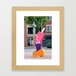 Melting Ice Cream Framed Art Print