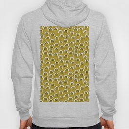 Sunny Melon love abstract brush paint strokes yellow ochre Hoody