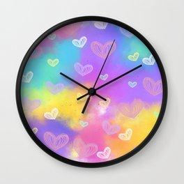 Colorful Heart Drawings Ver.7 Wall Clock