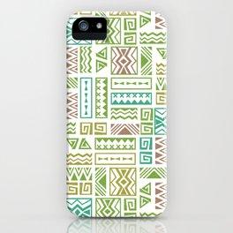 Polynesia Geometric Tapa Cloth - Earth Colors iPhone Case