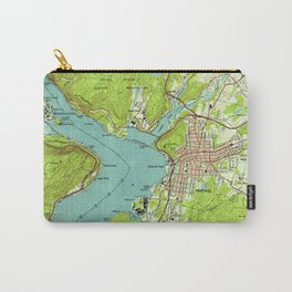 Vintage Map of Peekskill New York (1947) Carry-All Pouch