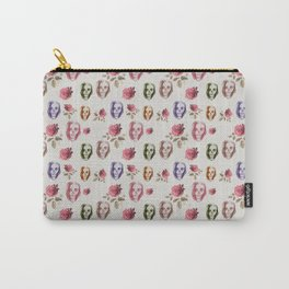 dead girl and roses pink Carry-All Pouch