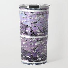 Vincent Van Gogh : Almond Blossoms Panel Art Dark Blue Purple Lavender Travel Mug