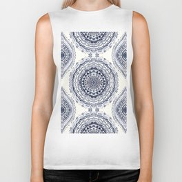 Supernova-In Navy, Dark Blue, & Grey Biker Tank