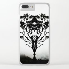 Angel of Solitude Clear iPhone Case