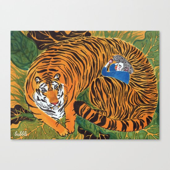 The wild beast is reasting Canvas Print