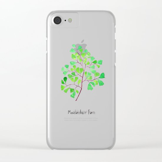 Maiden hair fern Clear iPhone Case