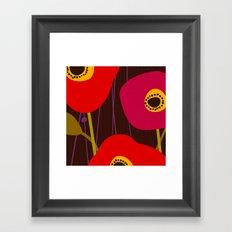 Red Poppy Flowers by Friztin Framed Art Print