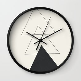 Minimal Geometric Art 02 Wall Clock