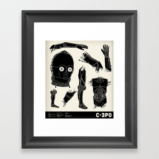 Decommissioned: C-3P0 Framed Art Print