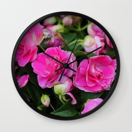 Stardust Double Impatiens Wall Clock