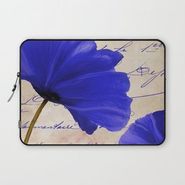 Coquelicots Blue Laptop Sleeve