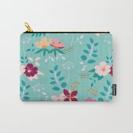 Exotic Flower Pattern Carry-All Pouch