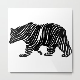 A Bear Walking Metal Print