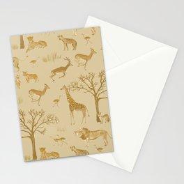 Safari in the Serengeti Stationery Cards