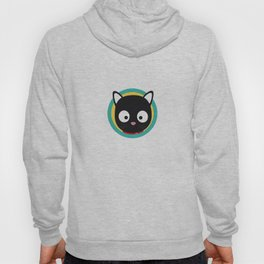 Black Cat with Green Circle Hoody
