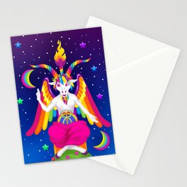1997 Neon Rainbow Baphomet Stationery Cards