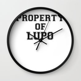 Property of LUPO Wall Clock
